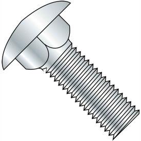 """Carriage Bolt - 5/16-18 x 1"""" - Round Head - Steel - Zinc CR+3 - Grade A - FT - A307 - Pkg of 125"""