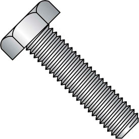 """Hex Tap Bolt - 3/8-16 x 3"""" - Grade A - Low Carbon Steel - Zinc CR+3 - FT - UNC - A307 - Pkg of 25"""