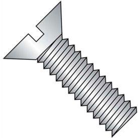"""10-32 x 2"""" Machine Screw - Flat Head - Slotted - Steel - Zinc CR+3 - UNF - FT - 100 Pk - BBI 580464"""