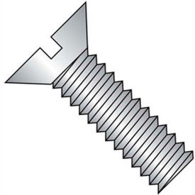 "1/4-20 x 1-1/8"" Machine Screw - Flat Head - Slotted - Steel - Zinc CR+3 - FT - 100 Pk - BBI 580635"