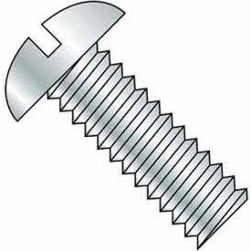 "5/16-18 x 1"" Machine Screw - Round Head - Slotted - Steel - Zinc CR+3 - FT - Pkg of 100 - BBI 583731"