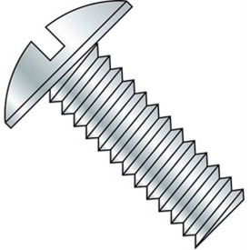 "6-32 x 4"" Machine Screw - Truss Head - Slotted - Steel - Zinc CR+3 - FT - Pkg of 100 - BBI 584287"
