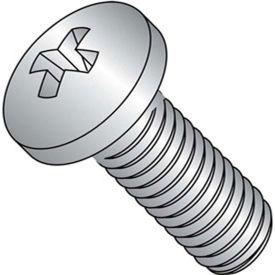 """5/16-18 x 2"""" Machine Screw - Pan Head - Phillips - Steel - Zinc CR+3 - FT - Pkg of 100 - BBI 587763"""