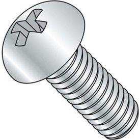 "10-24 x 1/2"" Machine Screw - Round Head - Phillips - Steel - Zinc CR+3 - FT - 100 Pk - BBI 588415"