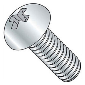 "1/4-20 x 2-1/2"" Machine Screw - Phillips Round Head - Steel - Zinc - FT - Pkg of 100 - BBI 588671-PR"