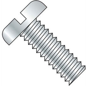 "10-32 x 2"" Machine Screw - Pan Head - Slotted - Steel - Zinc CR+3 - FT - Pkg of 100 - BBI 591464"