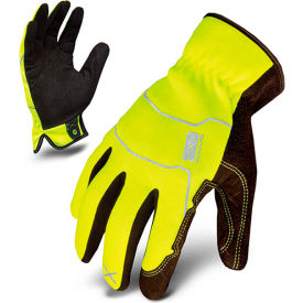 Ironclad® EXO2-HSY-04-L Hi-Vis Utility Safety Gloves, Slip-On, Yellow, 1 Pair, L