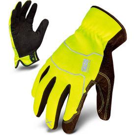 Ironclad® EXO2-HSY-05-XL Hi-Vis Utility Safety Gloves, Slip-On, Yellow, 1 Pair, XL