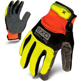 Ironclad® EXO2-HVP-04-L Hi-Vis Utility Safety Gloves, Hook & Loop, Yellow, 1 Pair, L