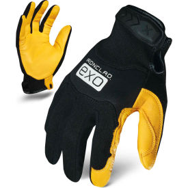 Ironclad® EXO2-MPLC-02-S Motor Pro Gold Cowhide Utility Gloves, Yellow/Black, 1 Pair, S