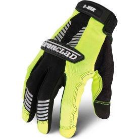 Ironclad® IVG2-04-L I-Viz® Reflective Leather Gloves, Green, 1 Pair, L