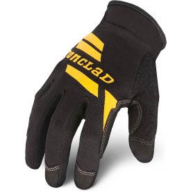 Ironclad® WCG-04-L Workcrew® Microsuede Gloves, Black, 1 Pair, L