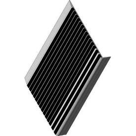 "Babcock-Davis® Stair Tread With Bar Abrasive BSTRB-A9D-72, Extruded Aluminum, 72""W X 9""D"
