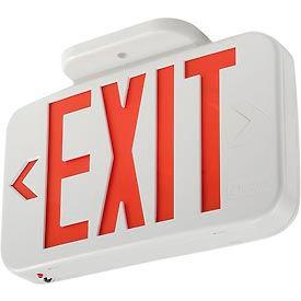Lithonia EXR LED EL M6 Red LED Exit W/ Battery Back-Up