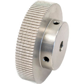 100 Tooth Timing Pulley, (Pwrgrip Gt) 2mm Pitch, Clear Anodized Aluminum, 100-2p09-6a4 - Min Qty 3