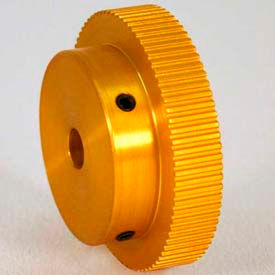 100 Tooth Timing Pulley, (Mxl) 0.08 Pitch, Gold Anodized Aluminum, 100mp025-6a4 - Min Qty 3