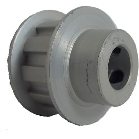 """10 Tooth Timing Pulley, (L) 3/8"""" Pitch, Clear Anodized Aluminum, 10l050-6fa6 - Min Qty 5"""