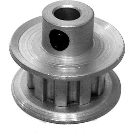 """10 Tooth Timing Pulley, (Xl) 1/5"""" Pitch, Clear Anodized Aluminum, 10xl025-6fa2 - Min Qty 10"""
