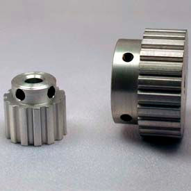 """10 Tooth Timing Pulley, (Xl) 1/5"""" Pitch, Clear Anodized Aluminum, 10xl037-6a2 - Min Qty 10"""
