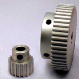 120 Tooth Timing Pulley, (Pwrgrip Gt) 2mm Pitch, Clear Anodized Aluminum, 120-2p09-6a5 - Min Qty 3