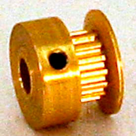 12 Tooth Timing Pulley, (Mxl) 0.08 Pitch, Gold Anodized Aluminum, 12mp012-6ca1 - Min Qty 10