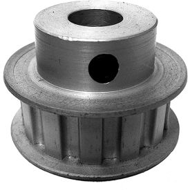 """13 Tooth Timing Pulley, (L) 3/8"""" Pitch, Clear Anodized Aluminum, 13l050-6fa5 - Min Qty 5"""