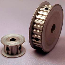 """15 Tooth Timing Pulley, (Xl) 1/5"""" Pitch, Clear Anodized Aluminum, 15xl037-3fa6 - Min Qty 8"""
