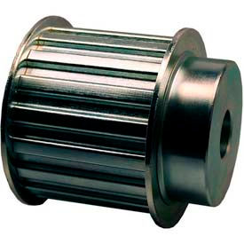 """16 Tooth Timing Pulley, (H) 1/2"""" Pitch, Clear Zinc Plated Steel, 16h200-6fs8 - Min Qty 2"""