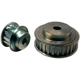 """16 Tooth Timing Pulley, (L) 3/8"""" Pitch, Clear Zinc Plated Steel, 16l075-6fs6 - Min Qty 4"""