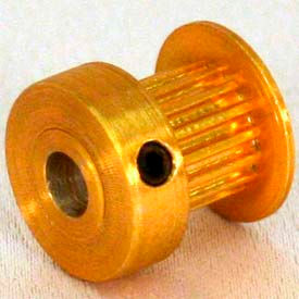 16 Tooth Timing Pulley, (Mxl) 2.03mm Pitch, Gold Anodized Aluminum, 16mp025m6ca4 - Min Qty 8