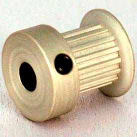 15 Tooth Timing Pulley, T 2.5mm Pitch, Aluminum, 16t2.5/15-2 - Min Qty 8