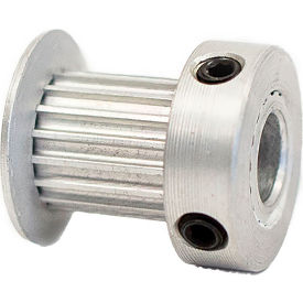 17 Tooth Timing Pulley, (Pwrgrip Gt) 2mm Pitch, Clear Anodized Aluminum, 17-2p09-6ca3 - Min Qty 8