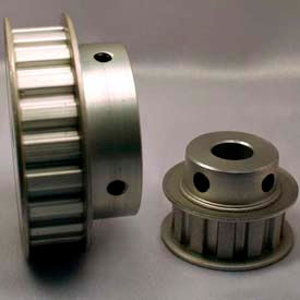 """17 Tooth Timing Pulley, (L) 3/8"""" Pitch, Clear Anodized Aluminum, 17l050-6fa6 - Min Qty 3"""