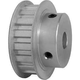 "18 Tooth Timing Pulley, (L) 3/8"" Pitch, Clear Anodized Aluminum, 18l050-6fa6 - Min Qty 3"