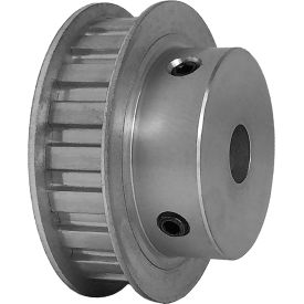"""20 Tooth Timing Pulley, (L) 3/8"""" Pitch, Clear Anodized Aluminum, 20l050-6fa6 - Min Qty 3"""
