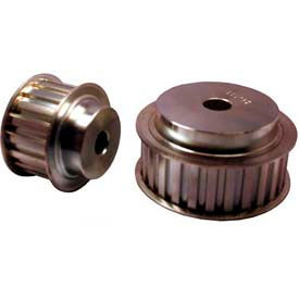 """20 Tooth Timing Pulley, (L) 3/8"""" Pitch, Clear Zinc Plated Steel, 20l100-6fs6 - Min Qty 3"""