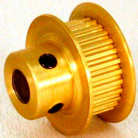 20 Tooth Timing Pulley, (Mxl) 0.08 Pitch, Gold Anodized Aluminum, 20mp025-6fa2 - Min Qty 10