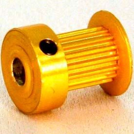21 Tooth Timing Pulley, (Mxl) 0.08 Pitch, Gold Anodized Aluminum, 21mp037-6ca3 - Min Qty 8