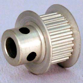 22 Tooth Timing Pulley, (Lt) 0.0816 Pitch, Clear Anodized Aluminum, 22lt312-6fa2 - Min Qty 8