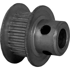 24 Tooth Timing Pulley, (Pwrgrip Gt) 2mm Pitch, Clear Anodized Aluminum, 24-2p06-6fa3 - Min Qty 8