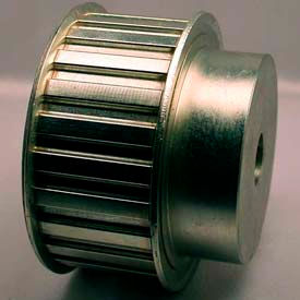 """24 Tooth Timing Pulley, (H) 1/2"""" Pitch, Clear Zinc Plated Steel, 24h150-6fs8 - Min Qty 2"""