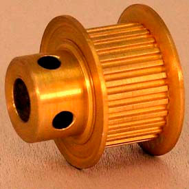 24 Tooth Timing Pulley, (Mxl) 0.08 Pitch, Gold Anodized Aluminum, 24mp037-6fa3 - Min Qty 8