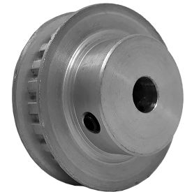 """24 Tooth Timing Pulley, (Xl) 1/5"""" Pitch, Clear Anodized Aluminum, 24xl025-6fa4 - Min Qty 8"""