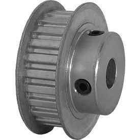 """24 Tooth Timing Pulley, (Xl) 1/5"""" Pitch, Clear Anodized Aluminum, 24xl037-6fa5 - Min Qty 8"""