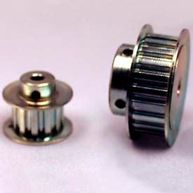 """24 Tooth Timing Pulley, (Xl) 1/5"""" Pitch, Clear Zinc Plated Steel, 24xl037-6fs3 - Min Qty 5"""