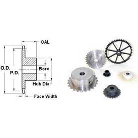 """60 Tooth, No. 25, 1/4"""" Ptch, Steel Fin. Bore Sprocket, 4.92"""" Od, Bore 0.875"""", 25bf60x7/8-Min Qty 4"""