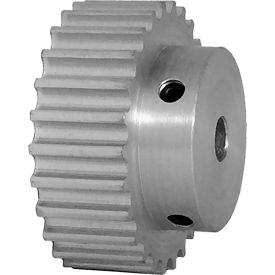 26 Tooth Timing Pulley, (Htd) 5mm Pitch, Clear Anodized Aluminum, 26-5m09-6a3 - Min Qty 5