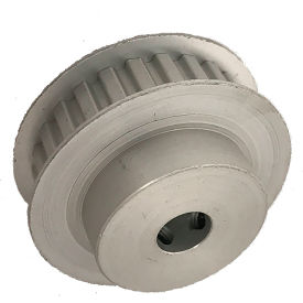 """26 Tooth Timing Pulley, (Xl) 1/5"""" Pitch, Clear Anodized Aluminum, 26xl037-6fa5 - Min Qty 8"""