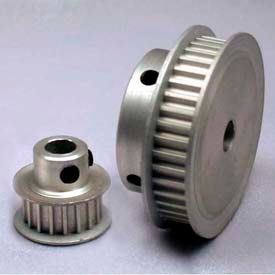 28 Tooth Timing Pulley, (Htd) 3mm Pitch, Clear Anodized Aluminum, 28-3m06-6fa3 - Min Qty 5
