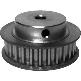 28 Tooth Timing Pulley, (Htd) 5mm Pitch, Clear Anodized Aluminum, 28-5m09-6fa3 - Min Qty 5